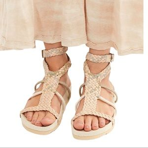 Free People Denali Footbed Sandal Leather Size 7.5